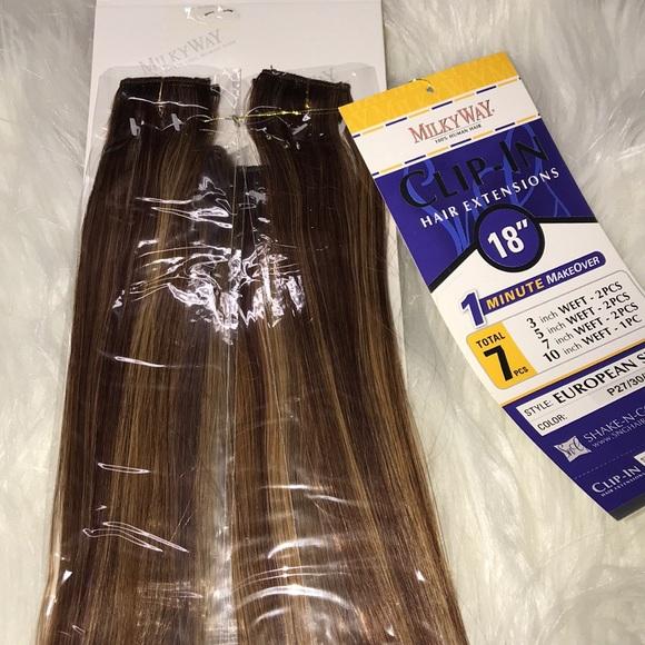 Milky Way Accessories Clipin Hair Extension 18 Humanhair Poshmark